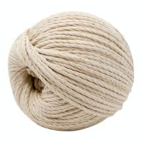 EatSupply Macrame Cord - Natural Cotton Macrame Cord for Crafts, Plant Hanger, Wall Hanging, DIY, Knitting, Crochet, Macrame Supply, Natural Beige Twine 4mm x 100m (109 Yards)