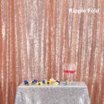 Rose Gold PartyDelight Sequin Backdrop, Booth Photography, 6Ftx6 Ft