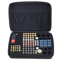 Whizzotech Battery Organizer Storage Box Waterproof Handle Carry Storage Bag Holds 152 Batteries with Free Battery Tester BT168