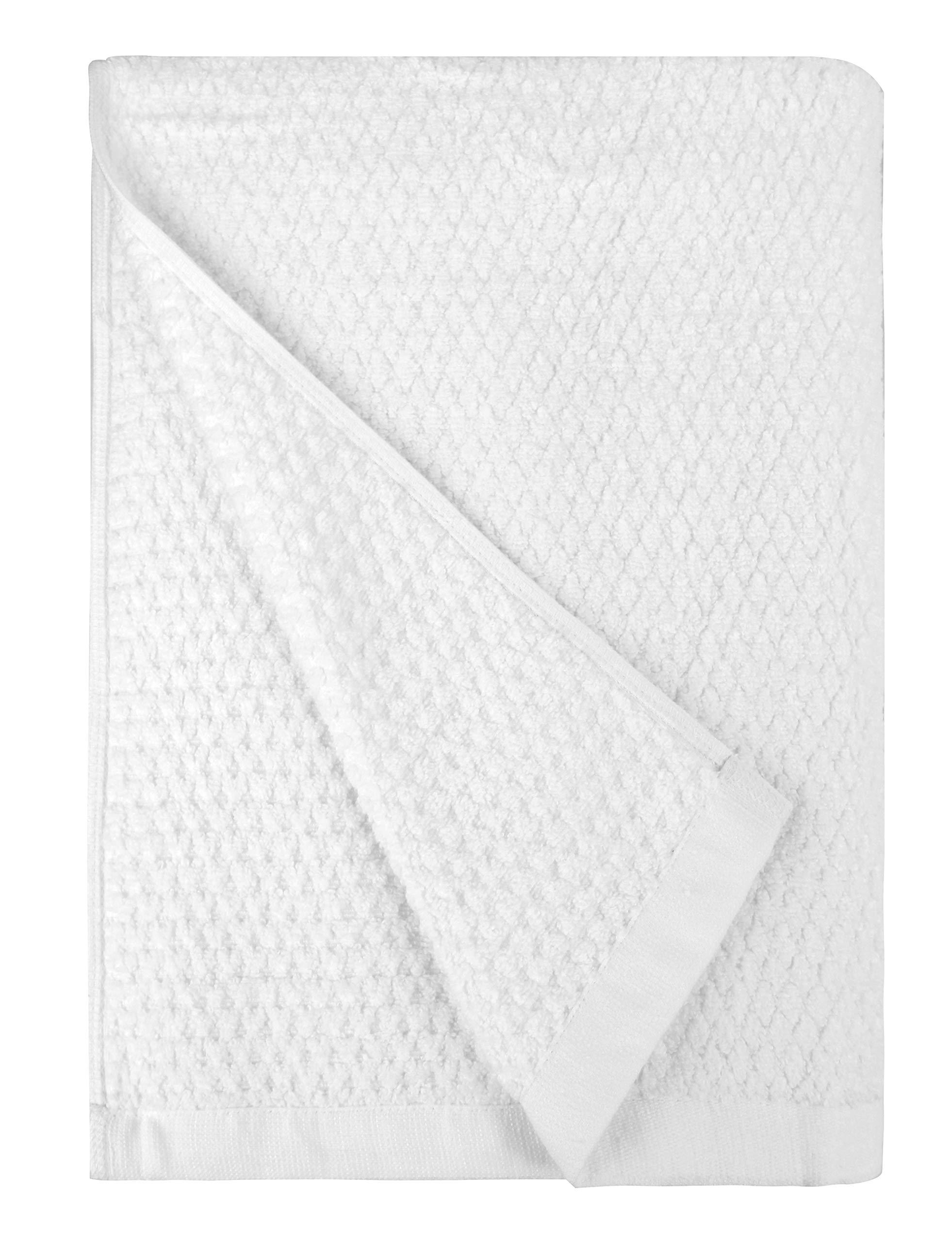 Everplush Diamond Jacquard Quick Dry Bath Towel, 1 Pack (30 x 56), White