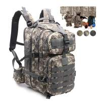 Tactical Backpack for Men Black Military Bookbag for Hiking Fishing Travel Survival Camping Small Molle Bag