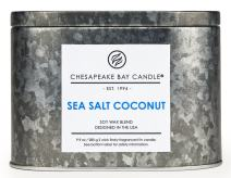 Chesapeake Bay Candle Tin with Double Wick Scented Candle, Sea Salt Coconut, Oval