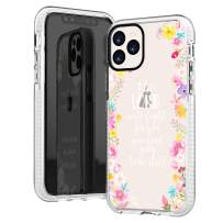 iPhone 11 Pro Max Case,Cute Pink Floral Flowers Rose Bible Verses Girls Women Power Quote Christian Inspirational Exodus 14:14 Trendy Soft Protective Clear Design Case Compatible for iPhone 11 Pro Max