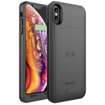 Alpatronix Battery Case for iPhone Xs Max, Rechargeable Qi Wireless Charging Case Compatible with iPhone Xs Max (6.5-inch) Black