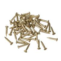 uxcell Small Tiny Brass Nails 1.2x8mm for DIY Decorative Pictures Wooden Boxes Household Accessories 50pcs