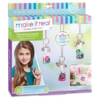 Make It Real - DIY Terrarium Jewelry. Terrarium Bottle Pendant Making Kit for Girls. Arts and Crafts Kit to Design and Create Beautiful Terrarium Pendants with Flowers, Gems, and Charms