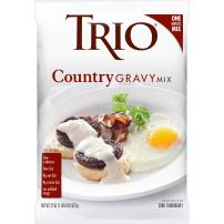 Trio Country Gravy Mix, Sausage, Holiday Roasts, Dehydrated, Just Add Water, 22 oz Bag