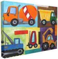 Stupell Industries Construction Trucks Set Canvas Wall Art, 16 x 20, Design by Artist nJoyArt