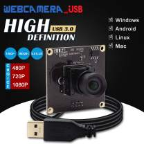 USB Camera Module Full HD 1080P Mini Webcam USB with Cameras with Sony IMX291 Image Sensor,USB3.0 Web Camera Low Illumination Camera Board with 100 Degree No Distortion Lens for Android Linux Windows
