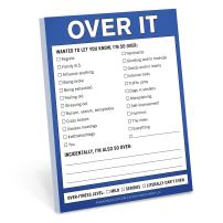 Knock Knock Over It Nifty Note, Checklist Memo Pad, 4 x 5.25-inches