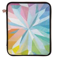 """Erin Condren Planner Folio - Kaleidoscope Colorful, Medium (9"""" x 11""""), Organizer and Portfolio Case Holder for Planners, Documents and Devices with Rose Gold Zipper and Inner Pouch"""