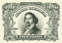 "Califari The Jack Herer $420 Bill - Full Color Strain Art Poster, Decor for a Home, Dorm, Dispensary, Store or Smoke Shop - 13"" x 19"" Hemp Print"