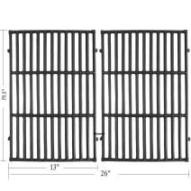 Hisencn 7524 19.5 Inches Cast Iron Cooking Grid Grates for Weber Genesis E-310/ E-320/ E-330, Genesis S-310/ S-320/ S-330, Genesis EP-310/ EP-320/ EP-330 Gas Grill, Replaces for Weber 7524/7528
