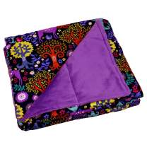 Calming Covers Weighted Blanket for Kids (6 lbs, 35 x 41, Enchanted Wood Cotton & Minky)