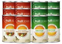 Fruitables Digestive Support Variety Pack of 6 Switch Transition Pumpkin Supplement and 6 Digestive Pumpkin Supplement, Pack of 12