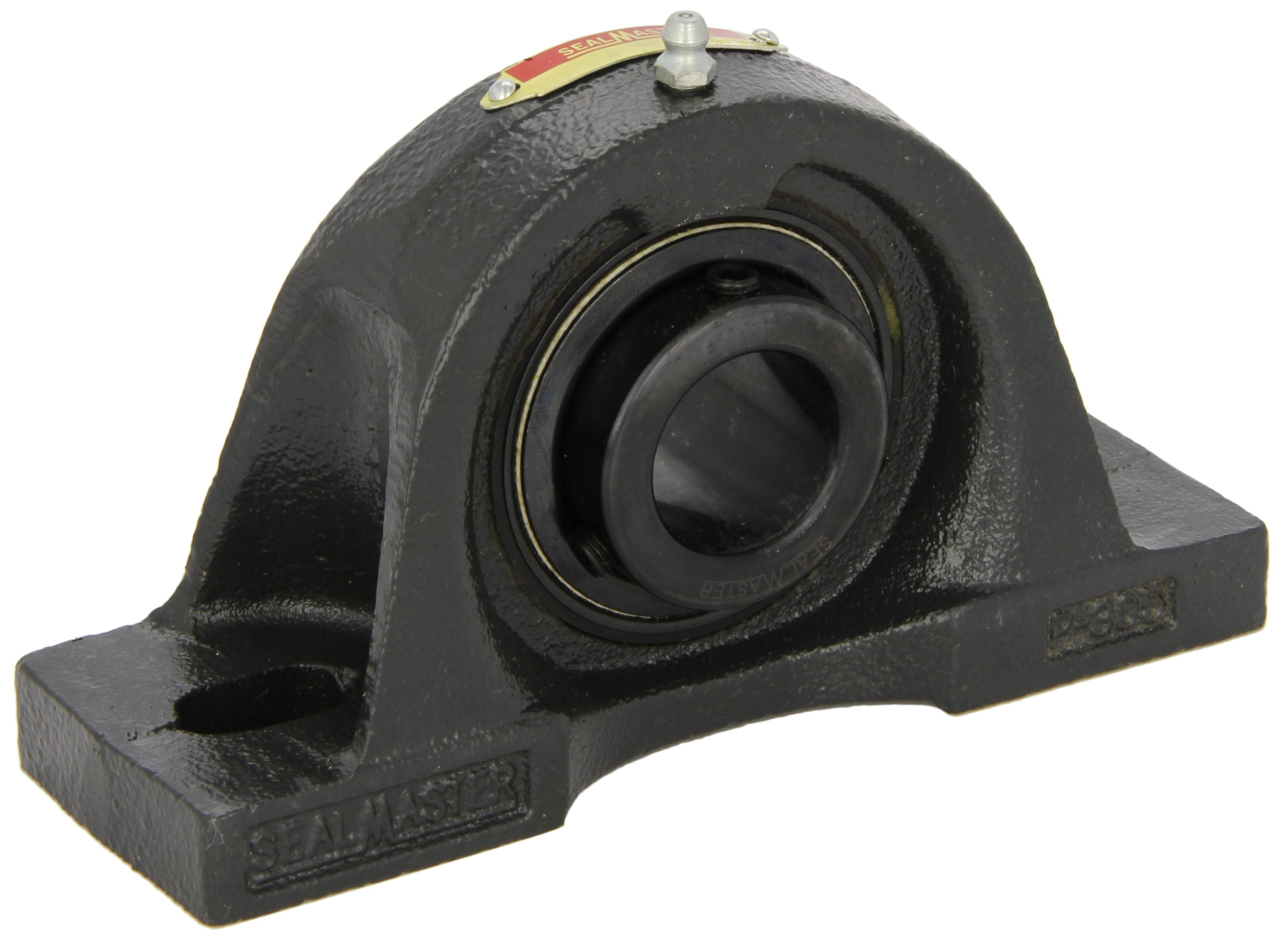 "Sealmaster MP-47 Pillow Block Ball Bearing, Non-Expansion Type, Medium-Duty, Regreasable, Setscrew Locking Collar, Felt Seals, Cast Iron Housing, 2-15/16"" Bore, 3-1/2"" Base to Center Height, 9"" Bolt Hole Spacing Width, ±2 degrees Misalignment Angle"