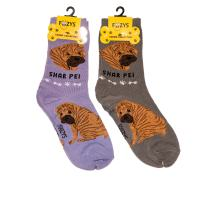 Foozys Unisex Crew Socks | Canine Large & Medium Dog Breed Novelty Sock (2 Pair)