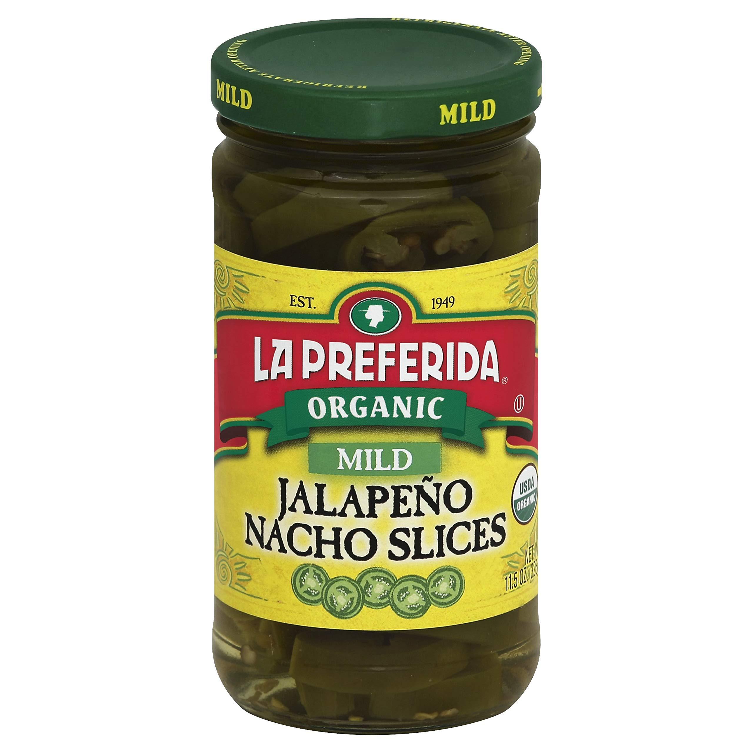 La Preferida Organic Jalapeno Nacho Slices, Mild, 11.5 oz (Pack - 6)