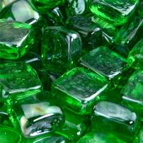 Pine Mountain - Fire Glass Cubes for Indoor and Outdoor Fire Pits or Fireplaces | 10 Pounds | 1 Inch