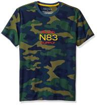 Nautica Men's Short Sleeve Camo Logo Crew Neck T-Shirt