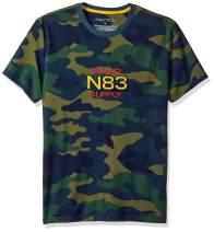 Nautica Men's Short Sleeve Camo Logo Crew Neck T-Shirt