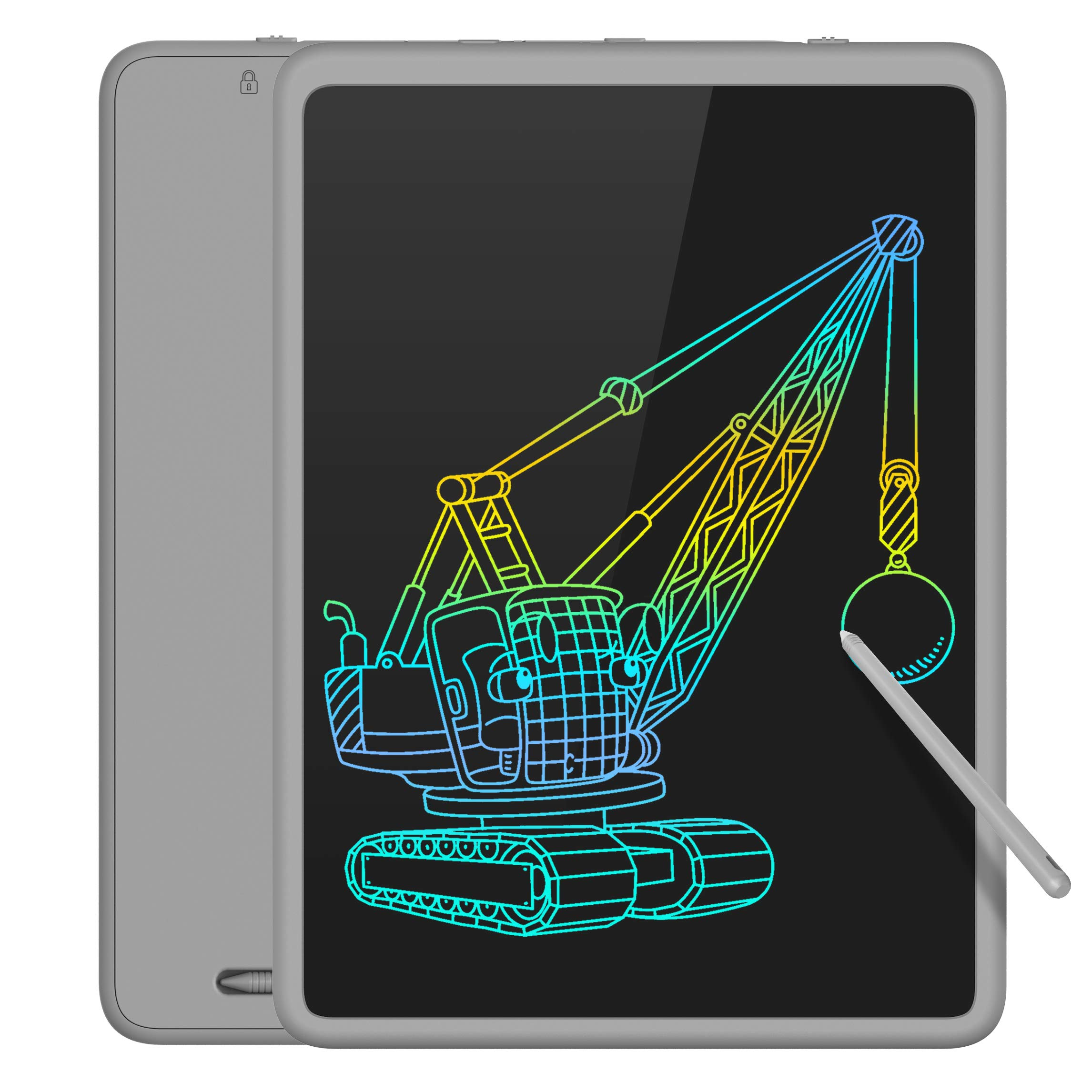 Tecboss LCD Writing Tablet Colorful Large Screen, Electronic Digital Drawing Board Doodle Pad for Office School Home (Gray, 11 Inch)