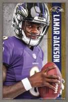 "Trends International NFL Baltimore Ravens - Lamar Jackson, 22.375"" x 34"", Barnwood Framed Version"