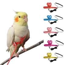 VANTRONIK Adjustable Bird Harness Leash Kit,OutdoorFlying Training Rope for Small Parrots(Random Color)