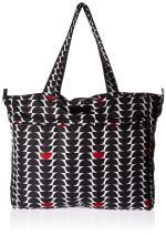 JuJuBe Super Be Large Everyday Lightweight Zippered Tote Bag, Onyx Collection - Black Widow
