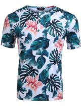 COOFANDY Men's Hipster Hip Hop V Neck T Shirts Short Sleeve Aztec Graphic Print Longline T-Shirt