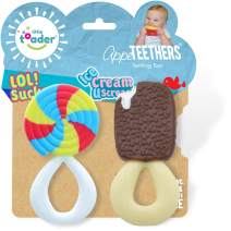 Little Toader - Baby Teether Toys – Appe-TEETHERS LOL! Sucker and Ice Cream U Scream combo pack candy teether - For Teething Infants and Toddlers (newborn and 3+ Month)