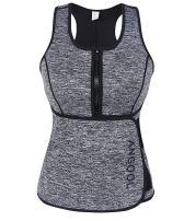 ANGOOL Waist Trainer Neoprene Sweat Sauna Vest for Women Weight Loss with Zipper and Waist Trimmer Belt
