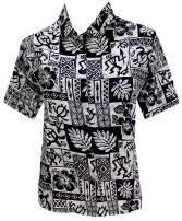 LA LEELA Women's Hawaiian Blouse Shirt Beach Aloha Party Casual Holiday Printed