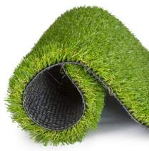 SavvyGrow Realistic Astroturf Rug 5 ft x 8 ft- Premium 4 Tone Synthetic Astro Turf, Easy to Clean with Drain Holes - Patio Grass Backdrop - Non Toxic Eco-Friendly (Many Sizes)
