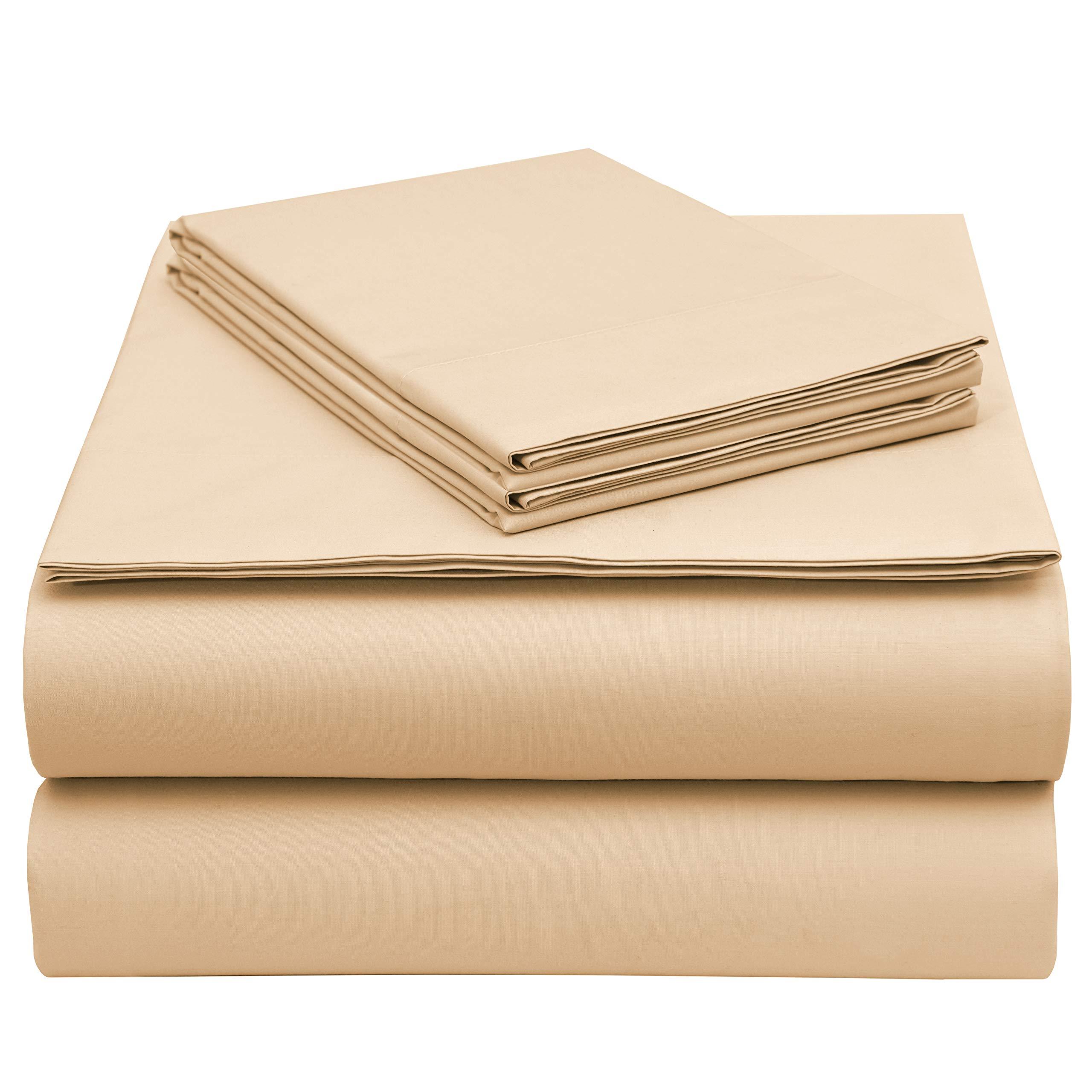 EnvioHome GOTS Certified Organic Cotton Sheet Set - 4 Piece - Ivory, Queen