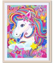 Rainbow Horse Diamond Painting Diamond Art for Kids Dimond Paintings for Kids kit (Rainbow Horse)