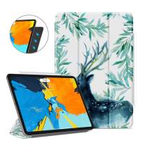 Ayotu Case for iPad Pro 11'' 2018(Old Model),Strong Magnetic Ultra Slim Minimalist Smart Case with Auto Sleep/Wake,Support Cover's Back fold,Trifold Stand Cover for iPad Pro 11 Inch 2018,Forest Deer