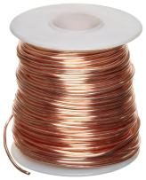 """Bare Copper Wire, Bright, 12 AWG, 0.08"""" Diameter, 50' Length (Pack of 1)"""