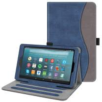 Fintie Case for All-New Amazon Fire 7 Tablet (9th Generation, 2019 Release) - [Multi-Angle] Viewing Folio Stand Cover with Pocket Auto Wake/Sleep, Denim Indigo