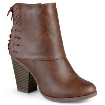 Journee Collection Womens High Heel Corset Lace Chunky Heel Ankle Boots