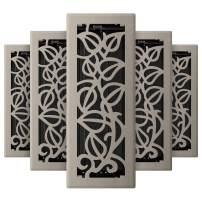 Imperial RG3276 Napa Decorative Floor Register, 4 x 12-Inch, Brushed Nickel, 5 Pack