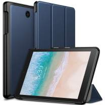 Infiland T-Mobile Alcatel Joy Tab 8/ Alcatel 3T 8 Tablet Case, Tri-Fold Cover Compatible with T-Mobile Alcatel Joy Tab 8-inch 2019 Release/Alcatel 3T 8-inch 2018 Released Tablet, Navy