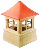 """Good Directions Windsor Wood Cupola with Copper Roof 22"""" x 32"""""""