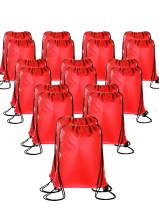 20 Pieces Drawstring Backpack Sport Bags Cinch Tote Bags for Traveling and Storage (Red, Size 1)