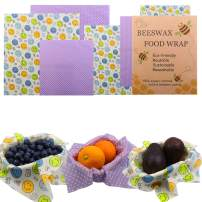 IAMGlobal Beeswax Wraps, Reusable Food Wraps, Organic Reusable Beeswax Food Wrap, Eco-Friendly, Sustainable Food Storage, 100% BPA Free, Perfect For Storing Sandwiches And Vegetables (6 Pack)