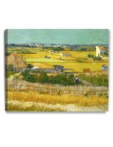 DECORARTS - The Harvest, Vincent Van Gogh Art Reproduction. Giclee Canvas Prints Wall Art for Home Decor 30x24