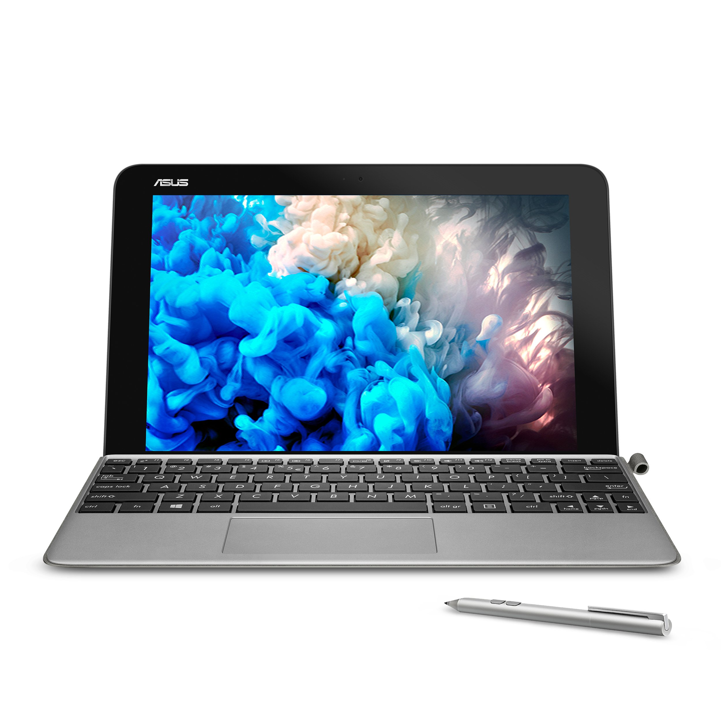 """ASUS 10.1"""" Transformer Mini T103HA-D4-GR, 2 in 1 Touchscreen Laptop, Intel Quad-Core, 128GB SSD, Grey, pen and keyboard included"""