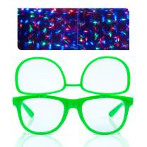 Premium Clear Glasses with Diffraction Flip Lenses - Ideal for Festivals, Lights, Raves, Etc.