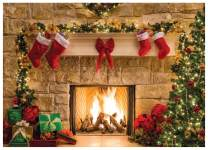 WOLADA 7x5ft Vinyl Christmas backdrops for Photography Fireplace Christmas Backdrop Baby Child Party Decoration Photo Studio Prop 11209-1