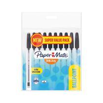 Paper Mate 2005654 InkJoy 50ST Ballpoint Pens, Medium Point (1.0mm), Black, Pack of 10 Pens
